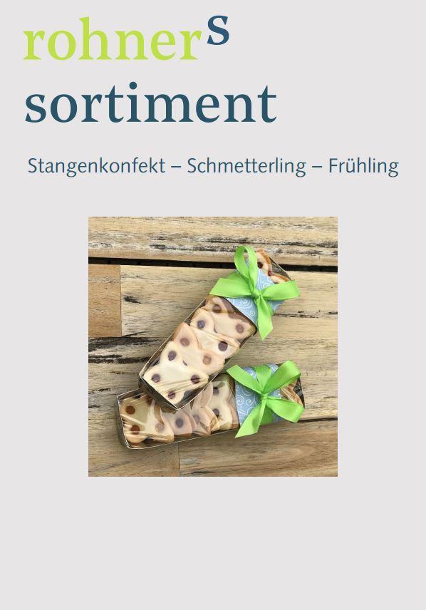 Stangenkonfekt Schmetterling Bäckerei Frühling